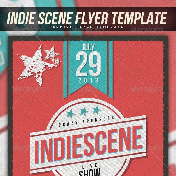 Indie Scene Flyer Template