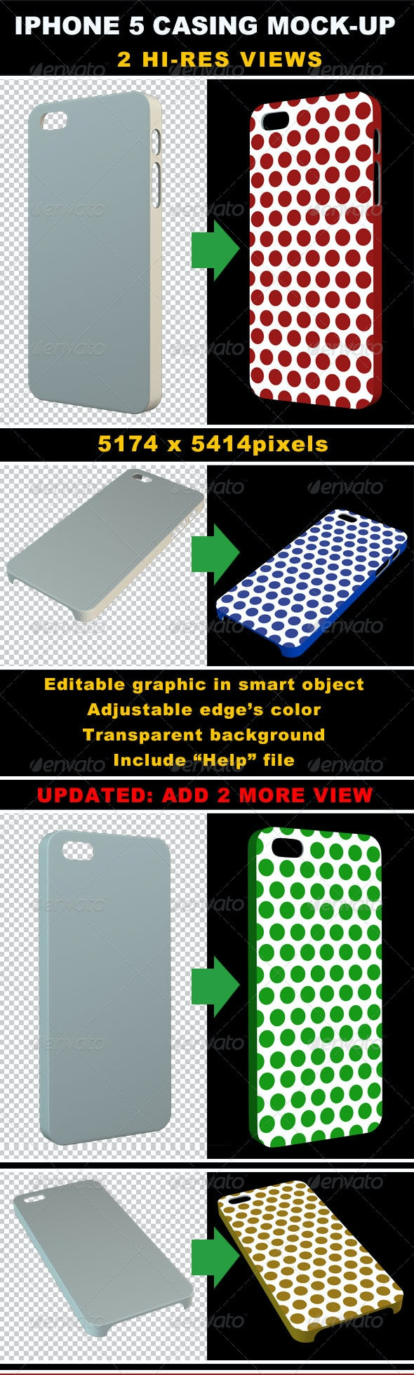 Phone 5 Casing Mock-up - Objects 3D Renders