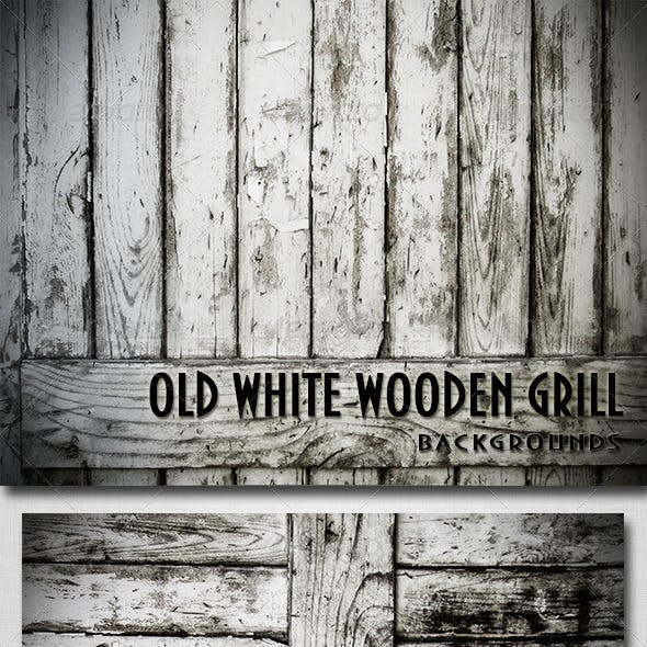 Old White Wooden Textures