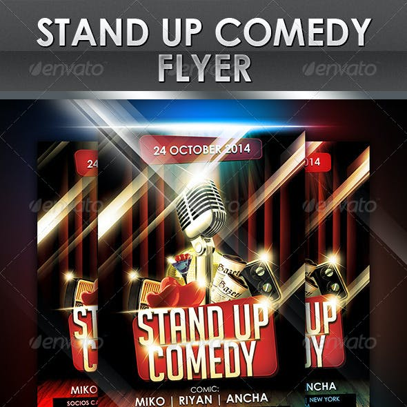 Stand-Up Comedy Event Flyer