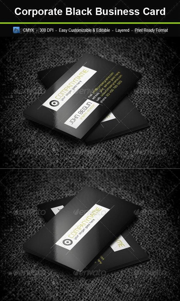 Corporate Black Business Card - Corporate Business Cards