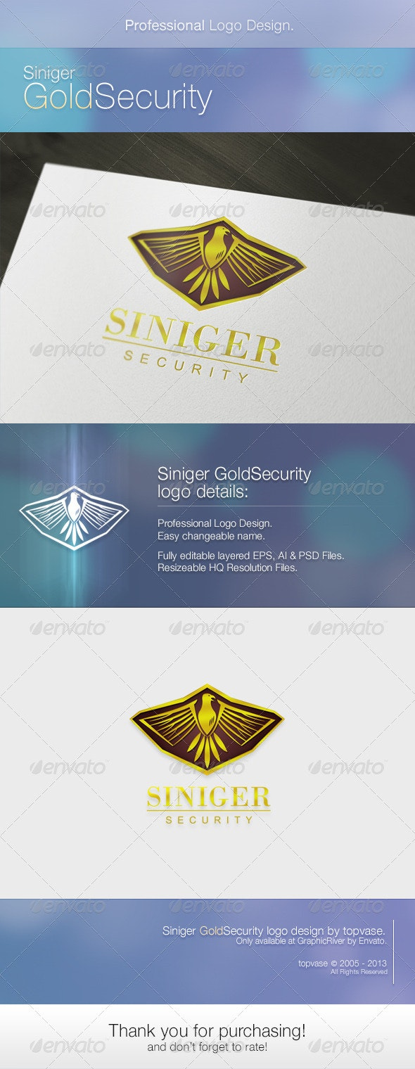 Siniger Gold Security - Animals Logo Templates