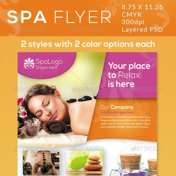 Spa Flyers / Print Ad