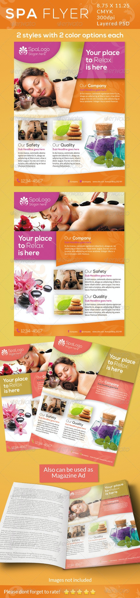 Spa Flyers / Print Ad - Commerce Flyers