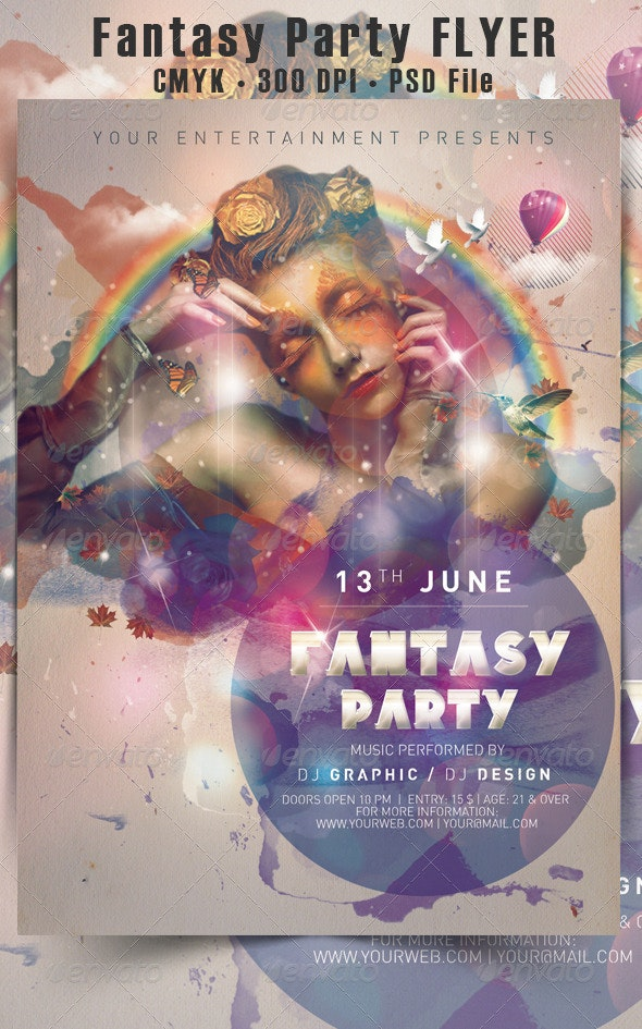 Fantasy Party Flyer - Events Flyers