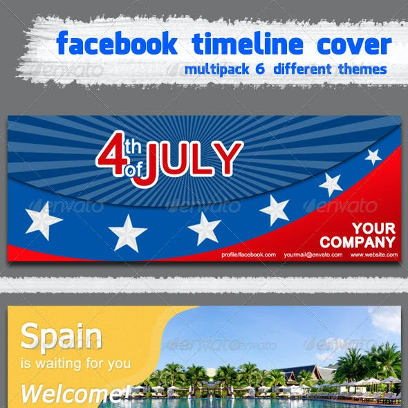 Facebook timeline cover multipack