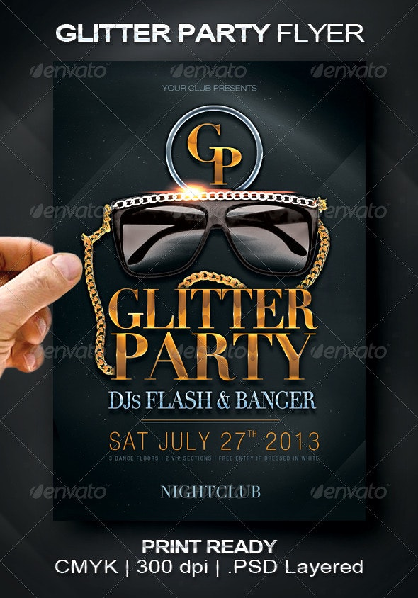 Glitter Party Flyer  - Events Flyers