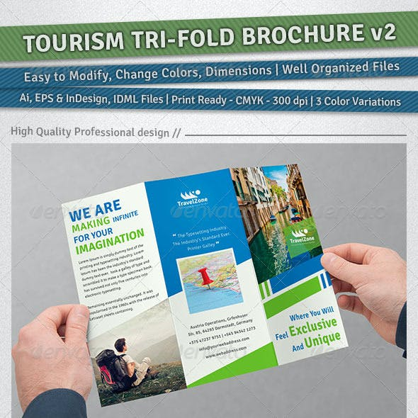 Tourism Tri-Fold Brochure | Volume 2