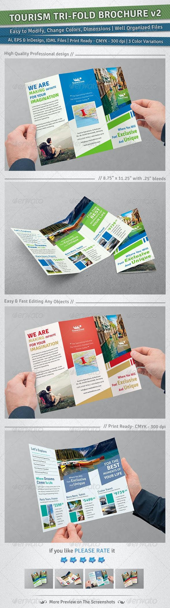 Tourism Tri-Fold Brochure | Volume 2 - Corporate Brochures