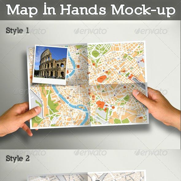 Map In Hands Mock-up