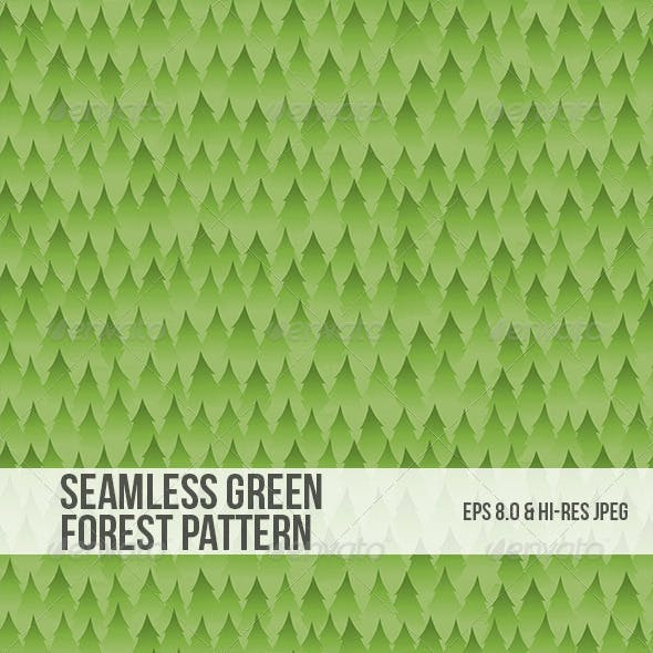 Seamless Green Forest Background Pattern