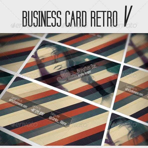 Business Card - Retro V