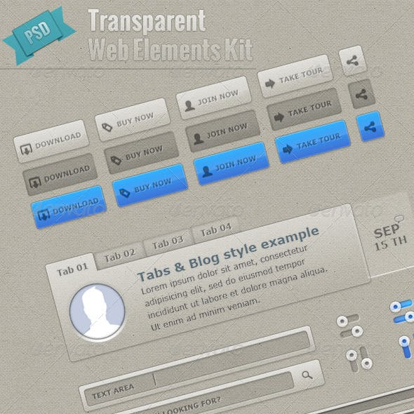 Transparent Web Elements Kit