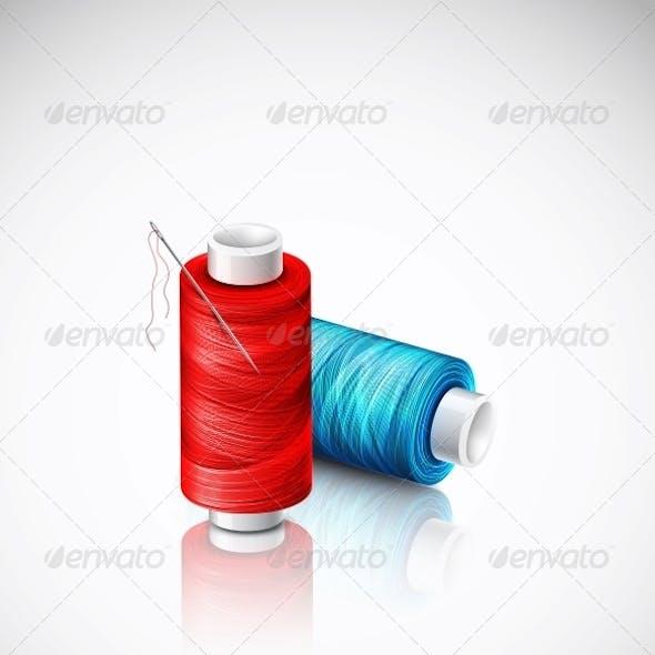 Isolated Bobbins of Thread