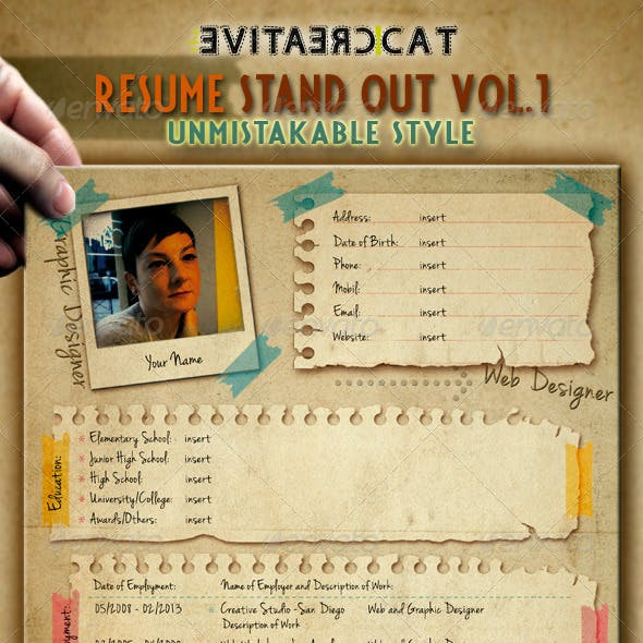 Resume/CV + Cover Letter Vol.1