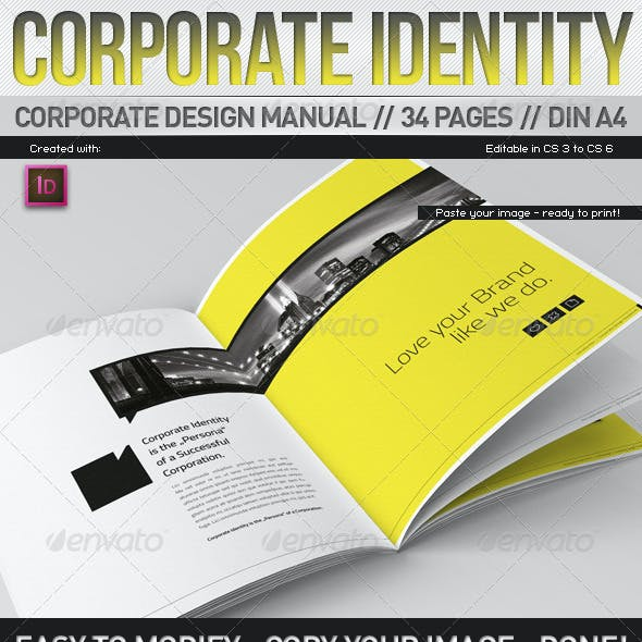 Corporate Design Manual Guide DIN A4 // 34 Pages