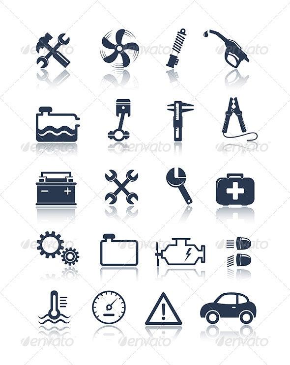 Auto Service Icons - Icons