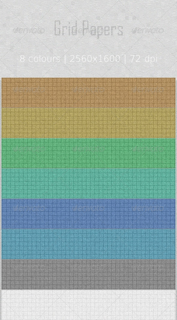 Colored  Grid Papers - Business Backgrounds