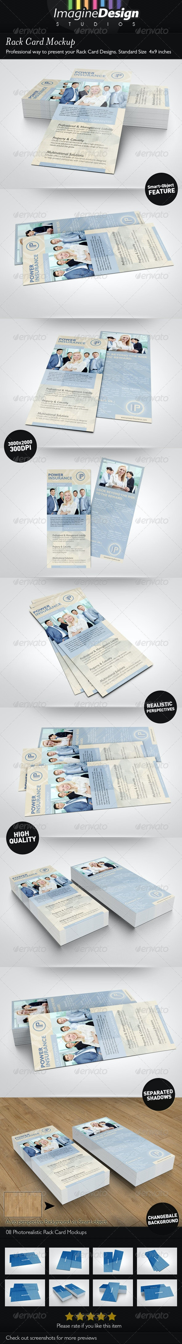 Rack Card Mockup - Miscellaneous Print