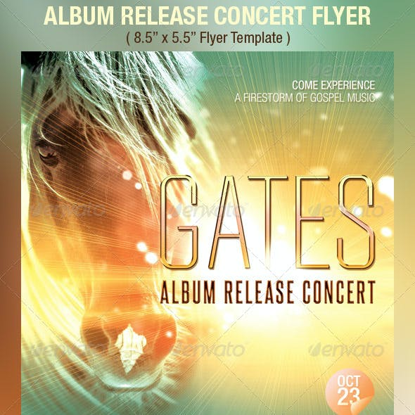 Album Release Concert Flyer Template