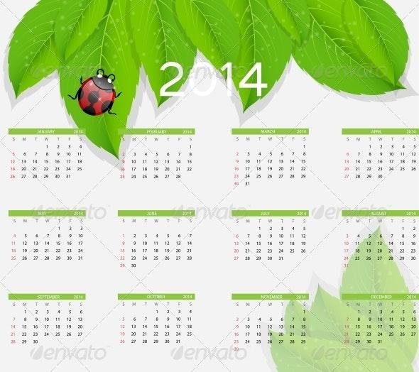 2014 New Year Nature Calendar - Christmas Seasons/Holidays