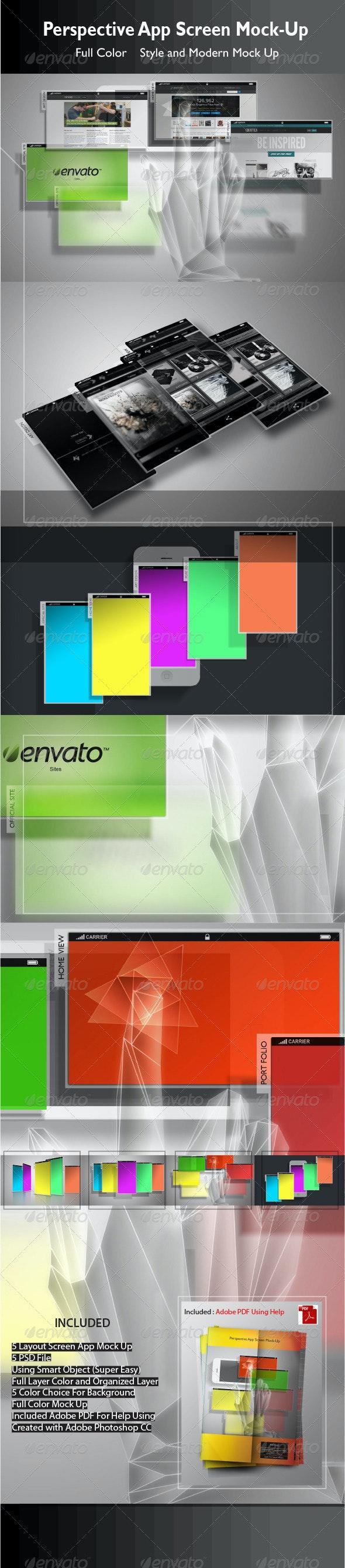 Perspective App Screen Mock-Up - Mobile Displays