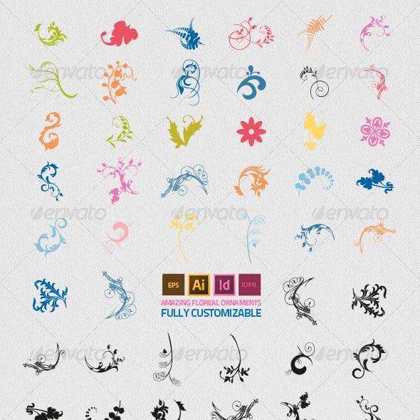 32 Floreal Ornaments