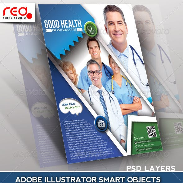 Hospital Flyer Poster & Magazine Template