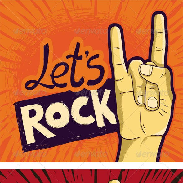 Three Lets Rock Posters