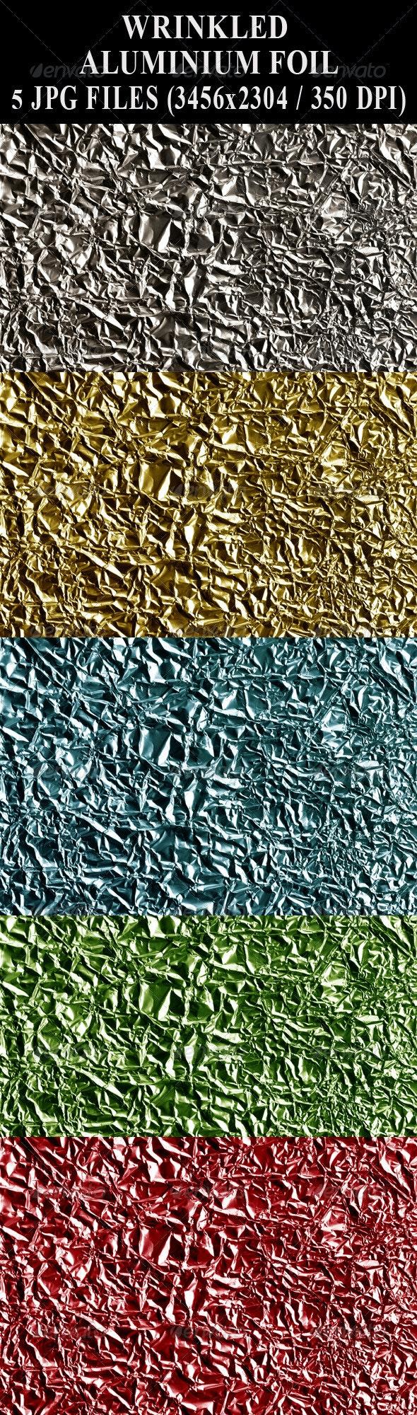 Wrinkled Aluminium Foil - Industrial / Grunge Textures