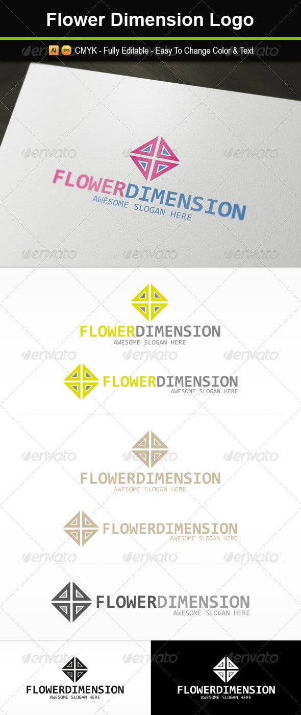 Flower Dimension Logo - Abstract Logo Templates