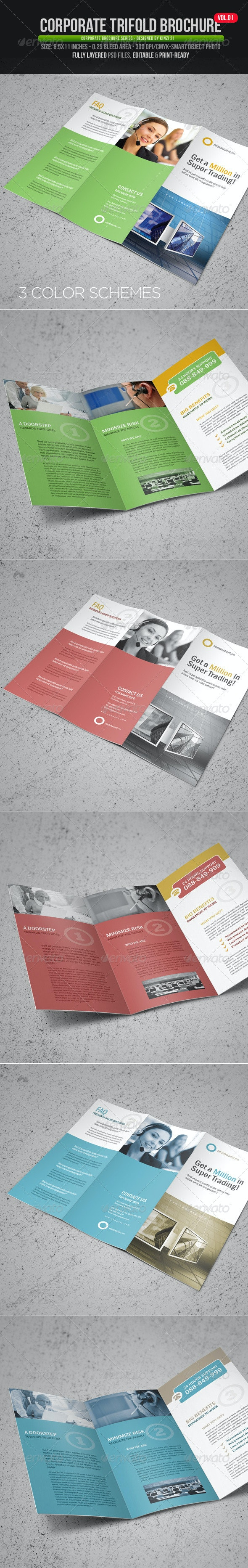 Corporate Trifold Brochure Vol.01 - Corporate Brochures