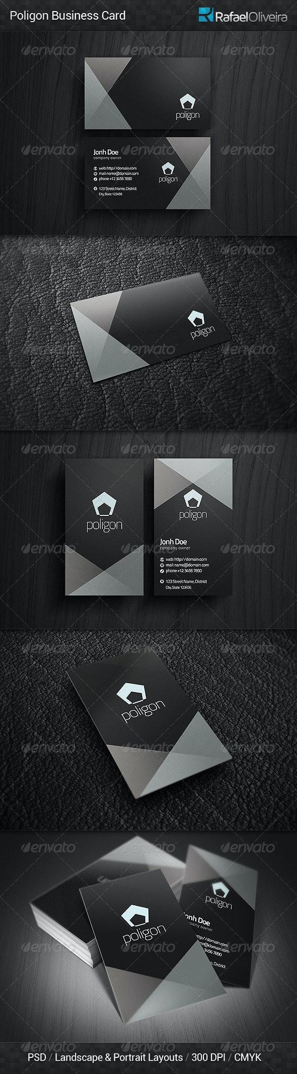 Poligon Business Card - Corporate Business Cards