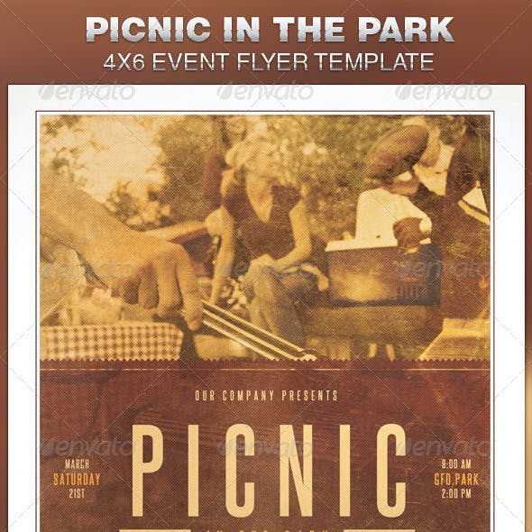 Picnic in the Park Event Flyer Template