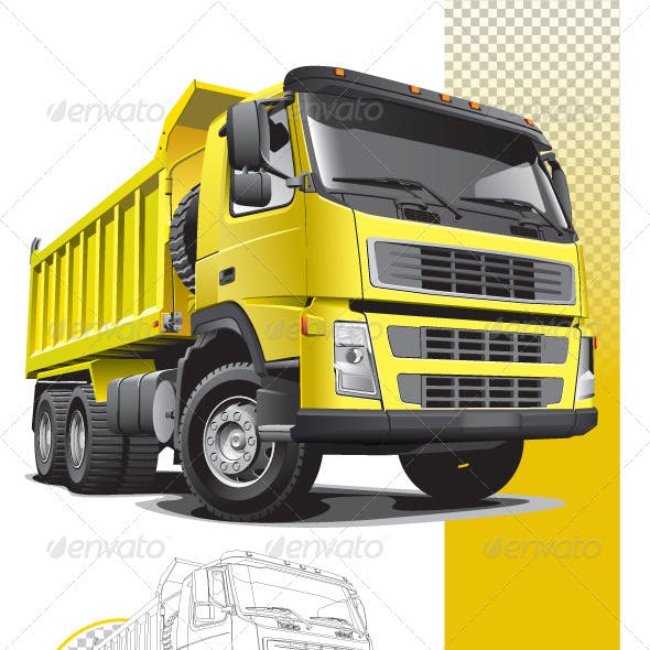 Large yellow truck