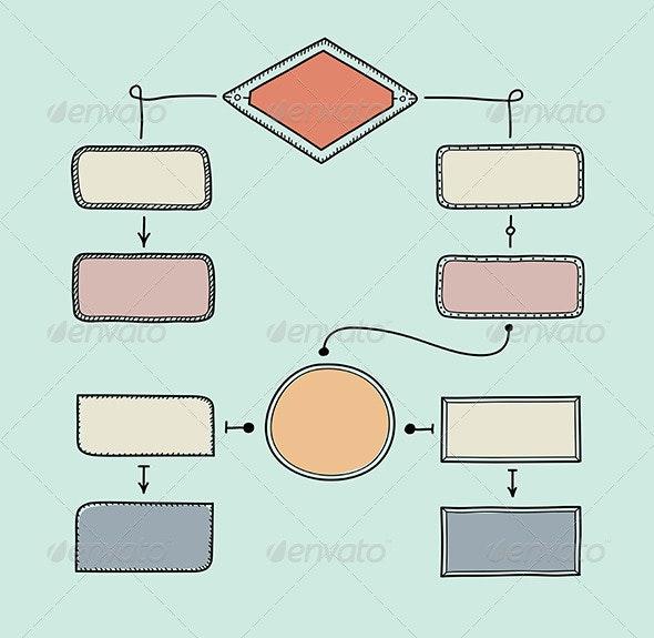 Retro Flowchart Illustration - Business Conceptual