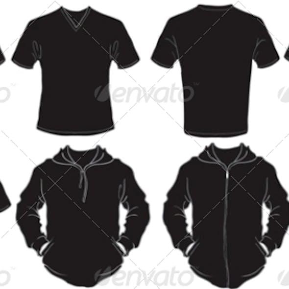 Male Black Shirts Template