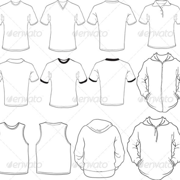 Male Blank Shirts Template