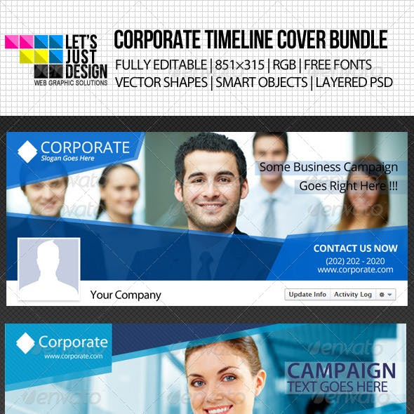 Corporate Facebook Timeline Cover Bundle