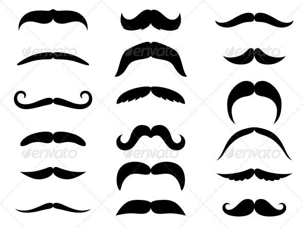 Black Mustaches  - Miscellaneous Vectors