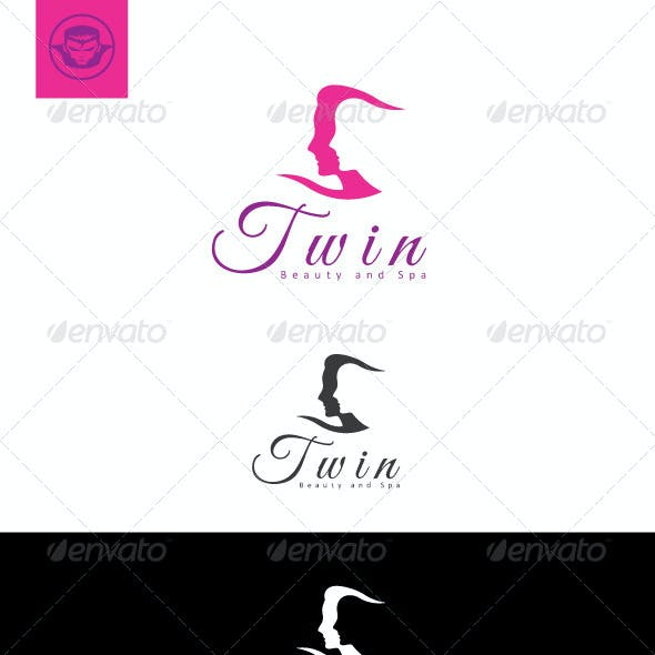 Twin Beauty and Spa Logo Template