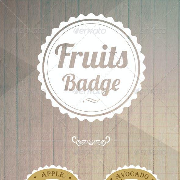 8 Fruit Badges Vector