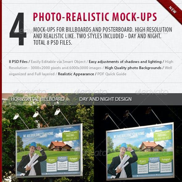 4 Photo Realistic Mock-Ups