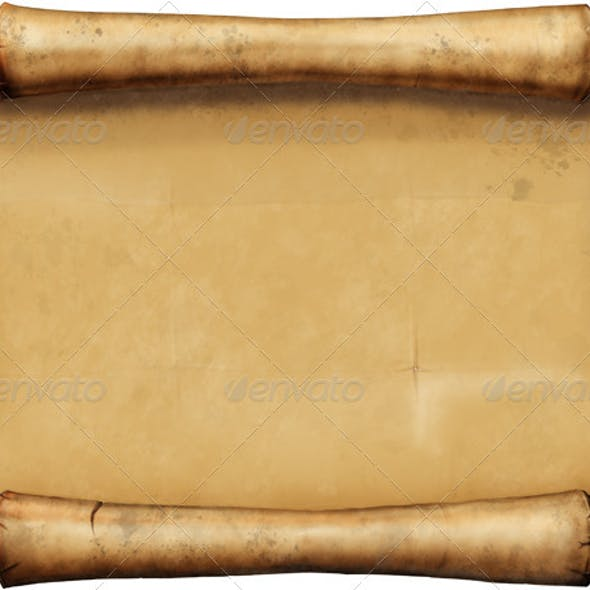 Old Blank Scroll.