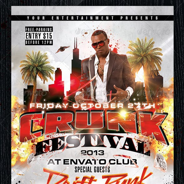 The Crunk Festival Flyer
