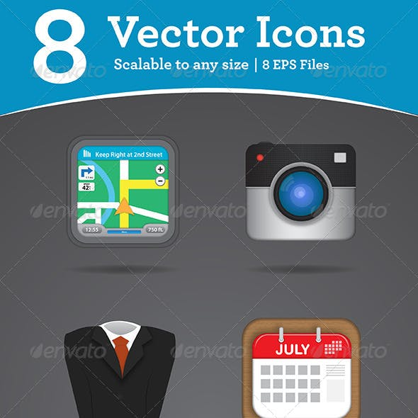 8 Vector Icons