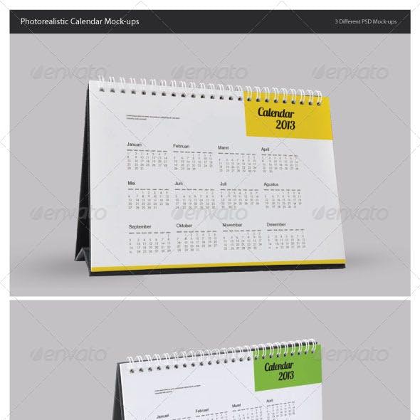 Photorealistic Calendar Mock-Ups