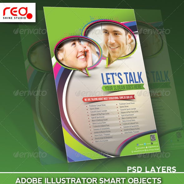 Customer Support Flyer Poster Magazine Template