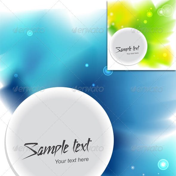 Two Vector Watercolor Template Background