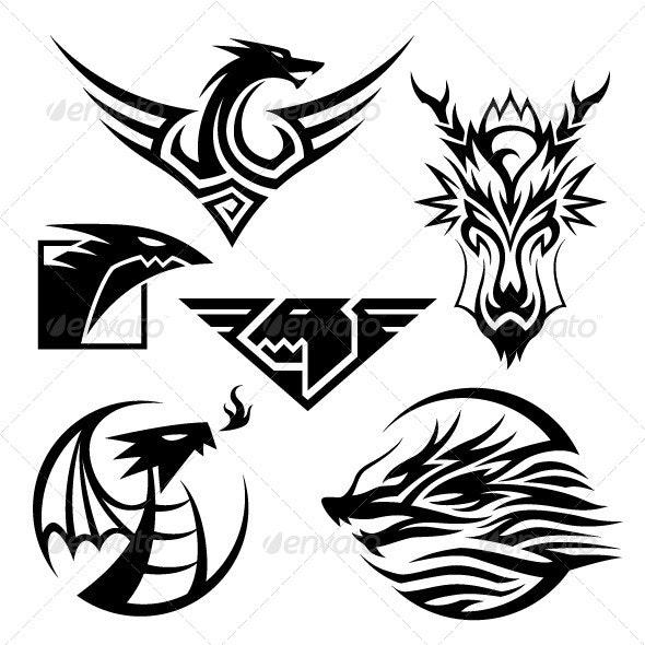 Dragon Symbols - Animals Characters